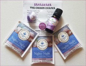 Chakra Rocks Crown Chakra Alignment / Balance Kit Set - lavendar, amethyst, valerian tea